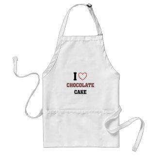 I love Chocolate cake Adult Apron
