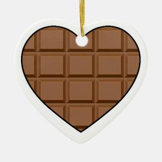 I Love Chocolate Ceramic Ornament