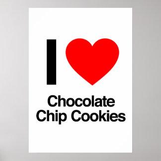 i love chocolate chip cookies print