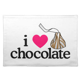 I Love Chocolate Cloth Placemat