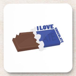 I Love Chocolate Coasters