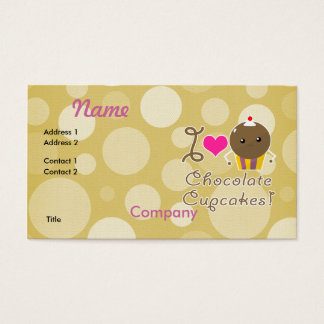 I Love Chocolate Cupcakes Business Card