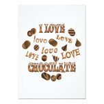 I Love Chocolate Custom Invitations