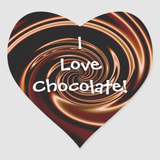 I Love Chocolate! Heart Stickers | Zazzle.com