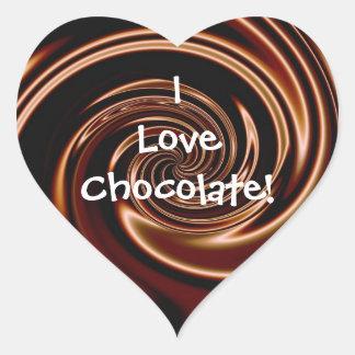 I Love Chocolate! Heart Stickers