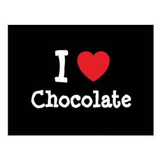 I love Chocolate heart T-Shirt Postcard