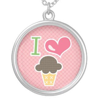 I Love Chocolate Ice Cream Necklace