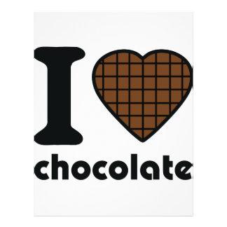 I love chocolate icon flyer