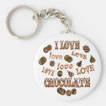 I Love Chocolate Key Chain
