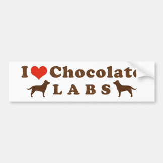 I Love Chocolate Labs Bumper Sticker