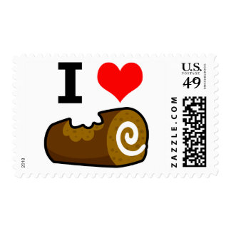 I Love Chocolate Log Postage