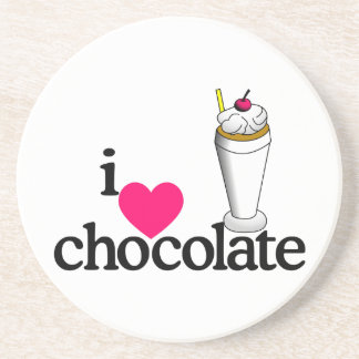I Love Chocolate Malt Coasters