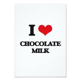 I love Chocolate Milk 3.5x5 Paper Invitation Card