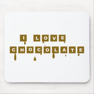 I love chocolate mouse pad