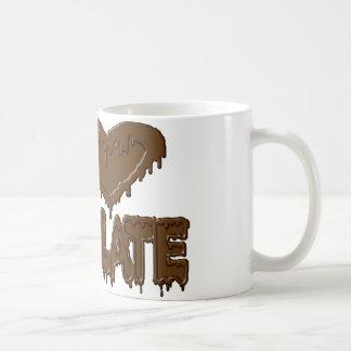 I love chocolate classic white coffee mug
