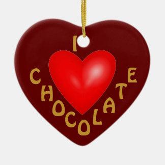 I Love Chocolate Ornament