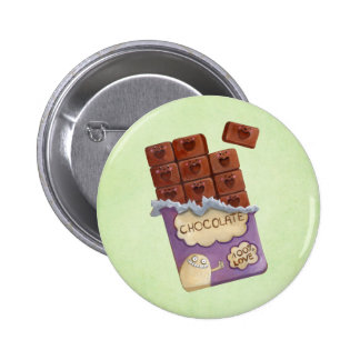 I love Chocolate Pinback Button