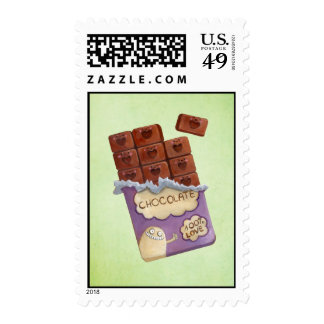 I love Chocolate Postage Stamps