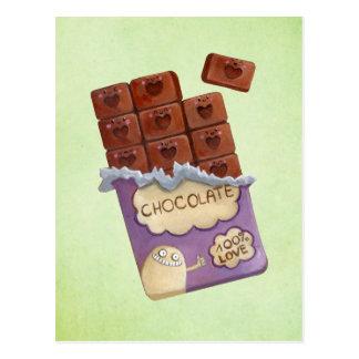 I love Chocolate Postcard