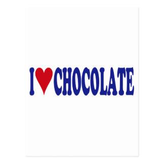 I Love Chocolate Post Cards