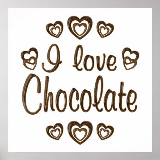 Love Chocolate Poster | Zazzle