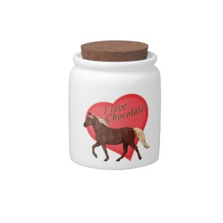 I Love Chocolate Rocky Mountain Horse Candy Dish