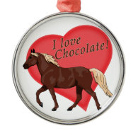 I Love Chocolate Rocky Mountain Horse Christmas Tree Ornament