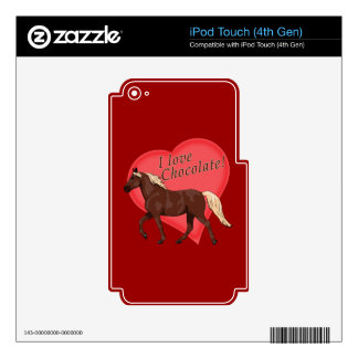 I Love Chocolate Rocky Mountain Horse Decals For iPod Touch 4G
