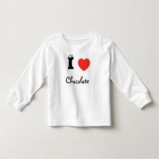 I love chocolate shirt. toddler t-shirt