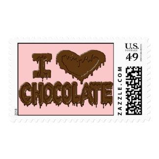 I love chocolate stamp