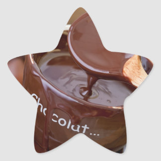 I love chocolate star sticker