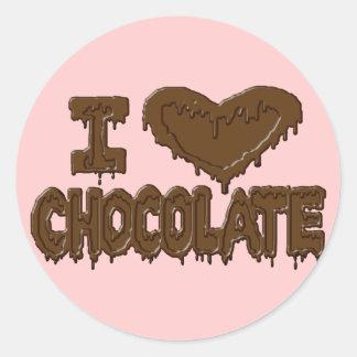 I love chocolate round stickers