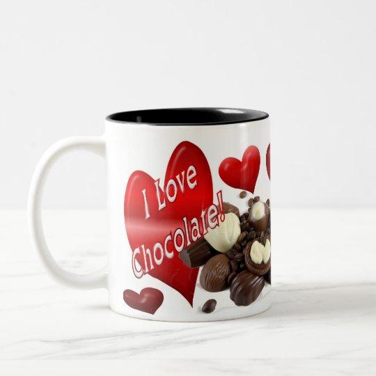 I love Chocolate Two-Tone Coffee Mug