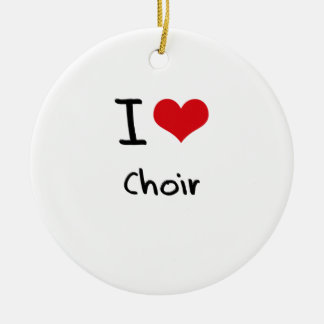 I love Choir Double-Sided Ceramic Round Christmas Ornament