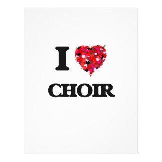 """I love Choir 8.5"""" X 11"""" Flyer"""