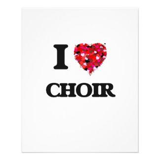 """I love Choir 4.5"""" X 5.6"""" Flyer"""