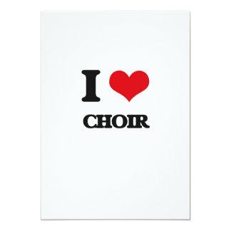 I love Choir 5x7 Paper Invitation Card