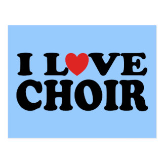 I Love Choir Postcard