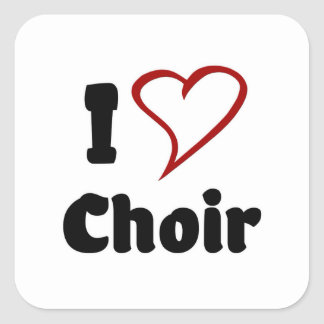 I Love Choir Square Sticker