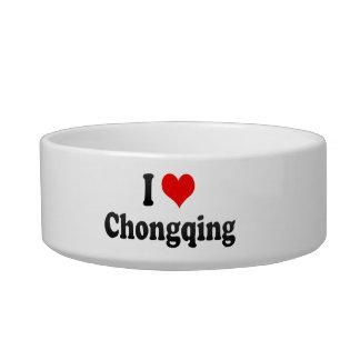 I Love Chongqing, China Cat Water Bowl