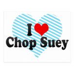 I Love Chop Suey Postcard