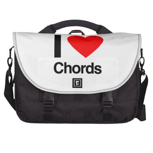 i love chords laptop messenger bag