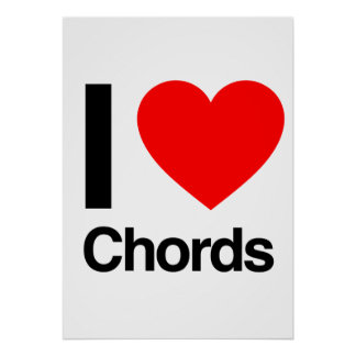 i love chords posters