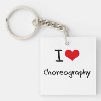 I love Choreography Single-Sided Square Acrylic Keychain