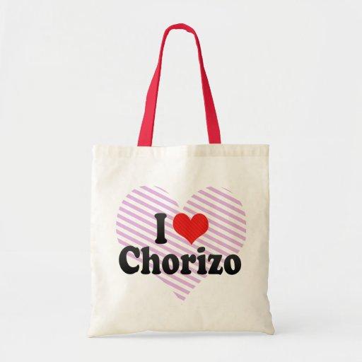 I Love Chorizo Budget Tote Bag