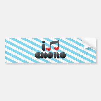 I Love Choro Car Bumper Sticker