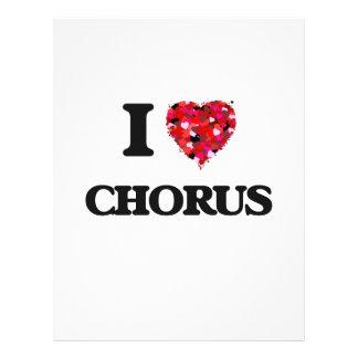 "I love Chorus 8.5"" X 11"" Flyer"