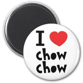 I love chow chow 2 inch round magnet