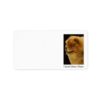I Love Chow Chow Label