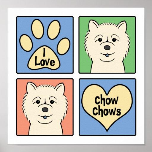 I Love Chow Chows Print
